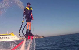 Flyboard, fly above the sea