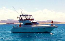 Barca da pesca fino all'isola di Lobos